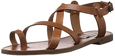 Steve Madden Women's Agathist Gladiator Sandal, Cognac Leather, 5.5 M US