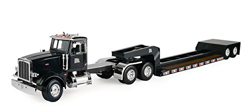 Big Farm Peterbilt Semi Vehicle with Lowboy Trailer