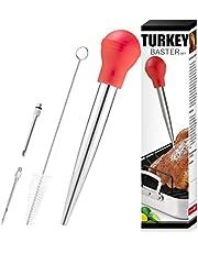 Turkey Baster, Baster Set of 4, Baster Syringe Needles and Cleaning Brush,red