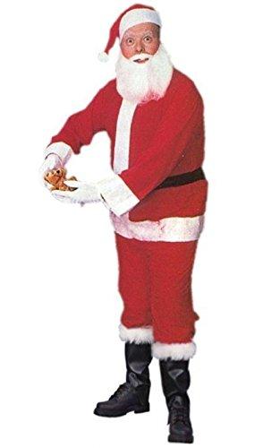 Light Up Long Adult Wig (Economy Santa Claus Suit Standard Adult Costume)