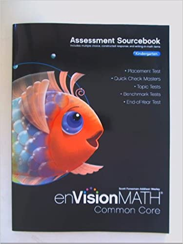 Amazon com: enVision Math Common Core Assessment SourceBook