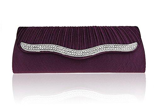 paquete de diamantes de la moda/EMBRAGUE pliegue/paquete de banquete de la moda/bolsos de noche de alto grado/paquete de novia/paquete del vestido/bolso de la señora-E D
