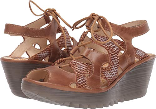 FLY London Women's YEXA916FLY Camel/Tan Rug/Palma 36 M - Fly Tan