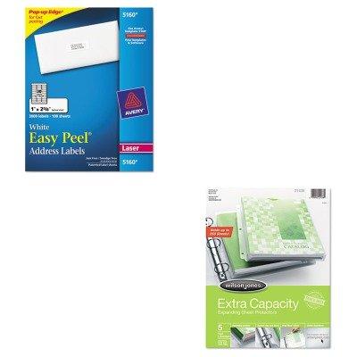 KITAVE5160WLJ21438 - Value Kit - Wilson Jones Extra Capacity Sheet Protector (WLJ21438) and Avery Easy Peel Laser Address Labels (AVE5160) ()