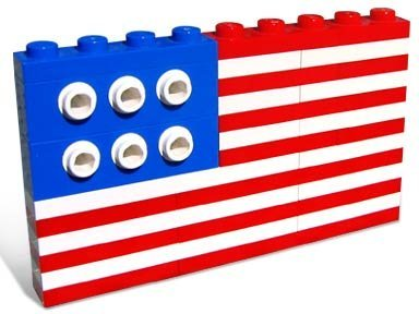 Image result for american flag lego