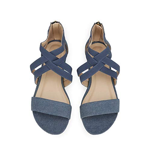 Reaction Cole Denim Great Blue Wedge Kenneth Women's Stretch Sandal AqTCwC5