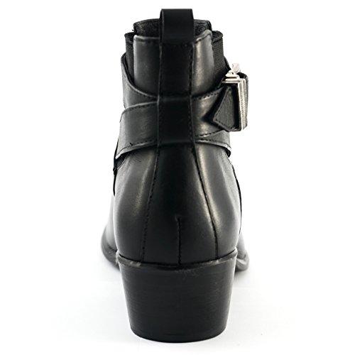 Nicki for heel Wome foam Black insole upper leather XwIqrXR