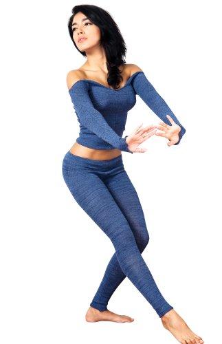 De Ballet 2 pc Ballet para el cuello en la parte superior y juego de y que fuera de bajo Rise poliámidos de KD Dance de alta calidad de Nueva York Dancewear fabricado en Pro de Nueva York crema