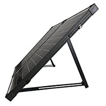 HQST 100 Watt 12Volt Polycrystalline Foldable Solar Panel Suitcase with Charge Controller