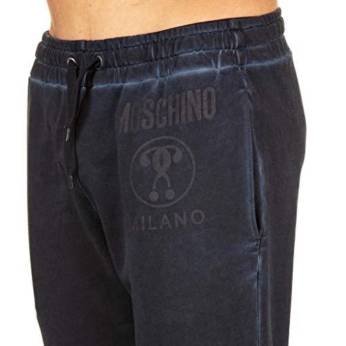Size Dark In Pantalone Moschino Blue A0310 Jogging Cotone 46 nq7wa0F