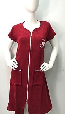 Brighton Robes Womens Turkish Terry Cotton Zipper Front Two Pockets Robe Sleepwear Beach Dress