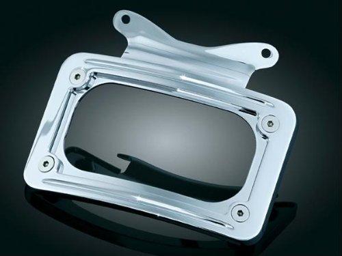 Kuryakyn Curved License Plate Frame (For Bullet & Custom Turn Signal Bars) (Curved Kuryakyn Plate Frame License)