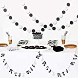 Furuix Music Note Garland G Clef Garland, Music Circle Garland, Music Theme Party Decorations, Music Birthday, Rock Star Birthday Rock and Roll Party, Music Theme Party