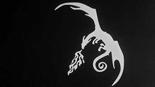 (Dragon Dragons Lord Of Rings Inspired Vinyl Decal Sticker|WHITE|Cars Trucks Vans SUV Laptops Wall Art|5.5