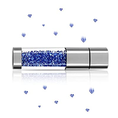 Techkey Jewelry Crystal USB Flash Drive for Girls, with 2 in 1 Anti Dust Plug + Stylus Pen for Touch Screens Set, Photo Frame Gift Packaging from Techkey