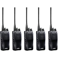 Kenwood TK3400U4P.X5 ProTalk TK-3400U4P Compact UHF FM Portable 2-Way Radio (Pack of 5), 4 Total Channels, 2.0 Watt Output Power, 250000 Sq. Ft. / 20 Floor / 6 Mile Range, 90 UHF Business Frequencies