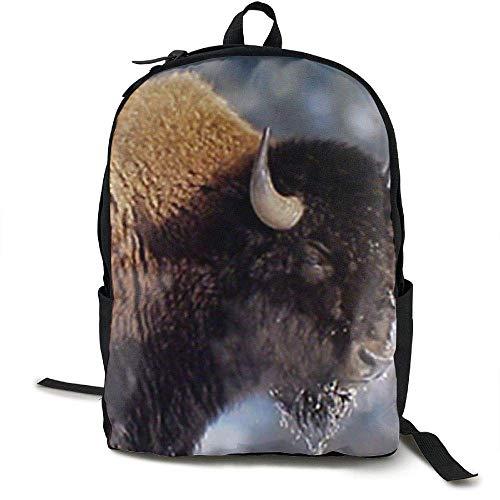 yadiicoyo American Bison Yellowstone National Park Laptop Backpack,Travel Computer Bag for Women & Men,Durable