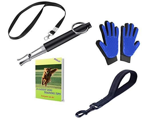 BOZLIZ Dog Whistle Silent to Stop Barking - Control Dog in Silence - Ultrasonic Patrol Sound Repeller- [Free Dog Lanydard Strap]- [Free Bonus Dog Glooming Glove]- [Free Bonus Ebook Dog Training Tips]