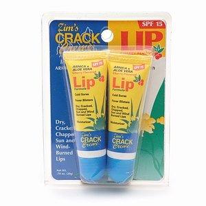 Crack Creme Arnica de Zim et Aloe Vera Lip formule, saveur cerise, Tubes 0,35 onces dans 2-Count Forfaits (Pack de 6)