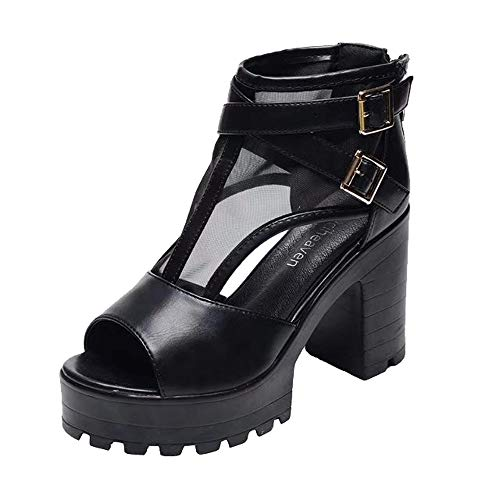 ZYEE Women Booties, Clearance Sale! Ladies Fish Mouth Platform High Heels Wedges Sandals Buckle Strap Shoes