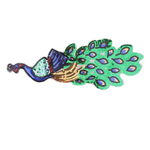 Sequins Peacock Patch Sew on Embroidered Sewing Applique