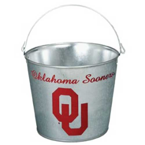 (Wincraft NCAA 9922841 University Of Oklahoma Galvanized Pail, 5 quart)