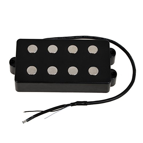 Kmise Black 4 String Bass Humbucker Double Coil Pickup for Bass Guitar Coil Tap (MI0553)