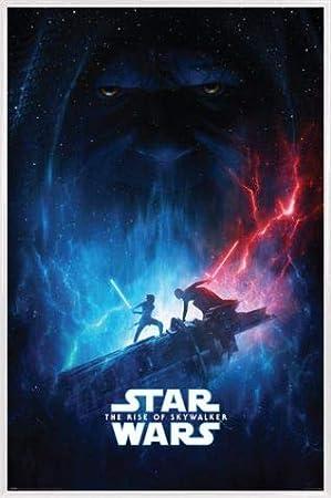 1art1 Star Wars Poster et Cadre - /Épisode IX LAscension de Skywalker Galactic Encounter 91 x 61cm MDF