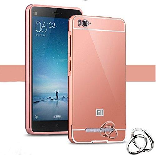 PREVOA® 丨 Metal Bumper Frame Funda Cover Case para Xiaomi Redmi 4A Smartphone de 5,0 Pulgadas - Rosa