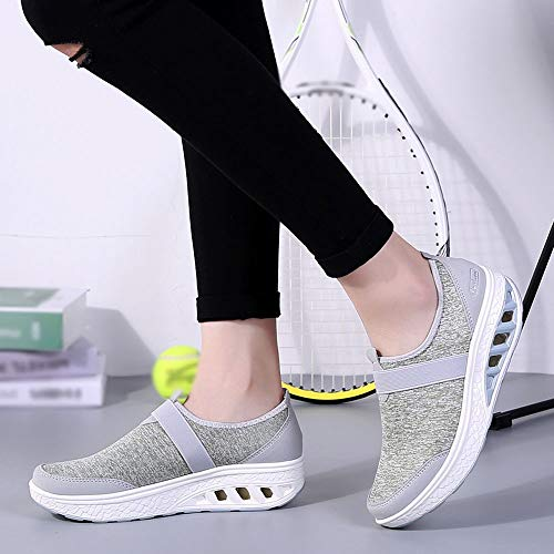 Wedge Shoes Green Sneakers Shoes Sport Shoes Rocking Thick Women JERFER Casual 35 Soled 42 Increased WE6xqUqRw8
