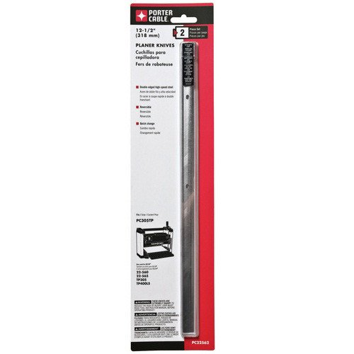 - Porter-Cable PC22562 12.5 in. Planer Knives for PC305TP (2-Pack)