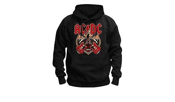 AC/DC - Cruzado Guitarras - Oficial Sudadera para Hombre - Negro, Small: Amazon.es: Ropa y accesorios