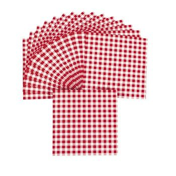 Red Gingham Luncheon Napkins - Tableware & Napkins -