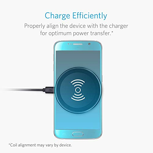 Anker Wireless Charger Charging Pad for iPhone 8 / 8 Plus, iPhone X, Galaxy Note 5, S7/S7 Edge/S6/S6 Edge/S6 Edge Plus, Nexus 4/5/6/7, LG G3 and Other Devices