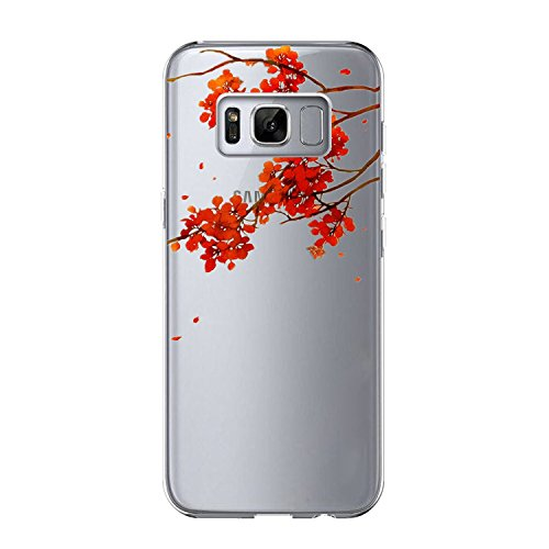 Price comparison product image Beryerbi Samsung Galaxy s8 Plus Case Transparent Shock Absorption Slim-Fit Flexible TPU Protective Cover (1, Galaxy s8)