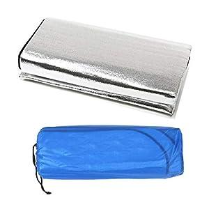 Kinshops Materassino da Letto Pieghevole Pieghevole a Doppia Faccia in Foglio di Alluminio Impermeabile da Viaggio… 1 spesavip