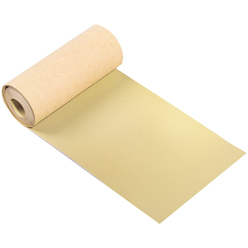 Self-Adhesive Leather Tape Roll - 4x50 Inch Leather Repair Patch for Car Seat, Sofas, Furniture, Couches, Jackets, Handbags, Shelf and Daily Repair(Cream Color)