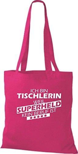 Weil De Bolsa Tischlerin Ningún Soy Es Fucsia Oficio Tela Súper Shirtstown Héroes qXgwA4dAn