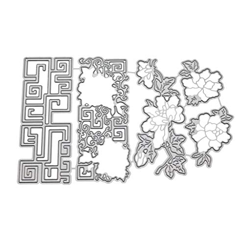 Embossing Silver Pebbles - VEFSU Die Cuts Scrapbooking Cutting Dies Metal Set Kit for Cardmaking #03263, Accessories for Big Shot and Other Cutter Machine (C)