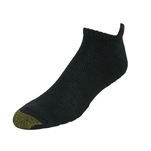 er Sock with Comfort Tab (3 Pair Pack), Black (Gold Toe Bamboo)