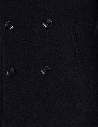 Amazon Brand - find. Men's Long Sleeve Double Breasted Wool-Blend Coat
