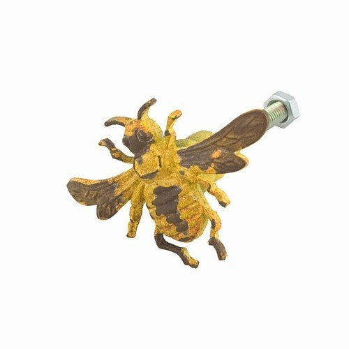 Bee Knob (Yellow Bee Drawer Dresser Cupboard Iron Pull Knob (pack of 2 pcs))