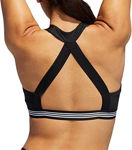 adidas Women's Ace 3-Stripes Sports Bra (XL, Black)