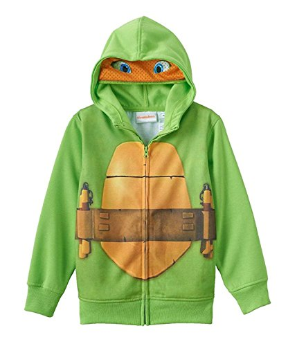 Nickelodeon Boy's Teenage Mutant Ninja Turtles Full Zip Hoodie with Mask -