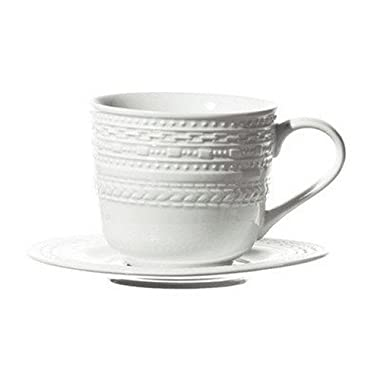 La Porcellana Bianca Casale Coffee Cup with Stand, Set of 6, 3 oz