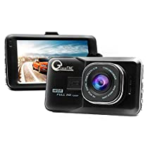 GraceFINE Dash Cam 1080P Full HD Car DVR 3 LCD and Night Vision Dashboard Camera Driving Recorder 6-Lane 170 Degree Wide Angle with G-Sensor, WDR and Loop Recording (Black)