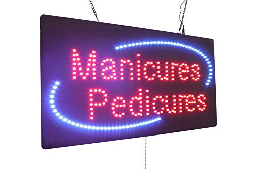 (Manicures Pedicures Sign, Super Bright LED Open Sign, Store Sign, Business Sign, Window Sign)