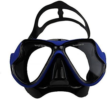 5d897018e3 Anti-niebla Vidrio Templado Gafas de Natación Gafas de Buceo Snorkel Máscara  de Buceo para el Adulto (Azul). Cargando imágenes.