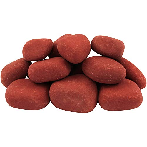 "Margo Garden Products 1-3"" 30lbs Rainforest India Rose River Pebble, Red"
