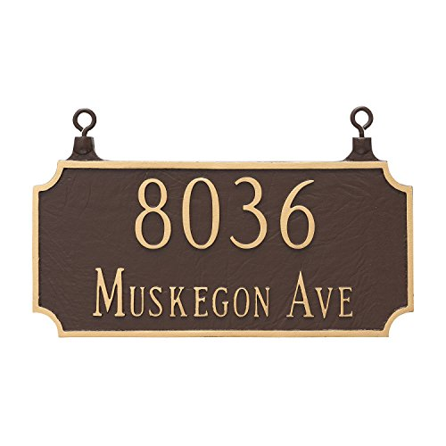 - Montague Metal TSH-0005S2-H-BC Double Sided Hanging Princeton Two Line Address Sign Plaque, 7.25